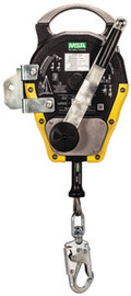 MSA 50' Workman Stainless Steel Rescuer With Integral Mounting Bracket And Self Locking Swivel Snaphook With Load Indicator