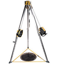 MSA 8' Workman Tripod Confined Space Entry Kit (Includes 50' Workman Rescuer, 65' Workman Winch, Stainless Steel Cable, (2) Pulleys And (2) Carabiners)
