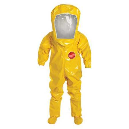 Dupont Level B Rear-Entry Encapsulated Suit, Yellow, Tychem 9000 Material