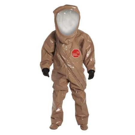 Dupont Level A Front-Entry Encapsulated Suit, Tan, L, Tychem Responder
