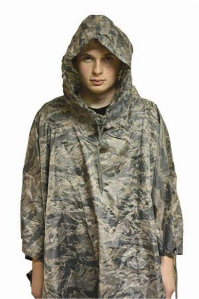 ABU Tiger Stripe Air Force Nylon Ripstop Poncho
