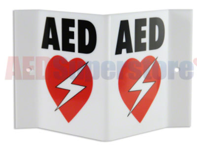 AED Projection Style Wall Sign For Resale
