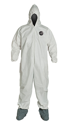 Dupont Coverall with zipper front NG122S & NG127S