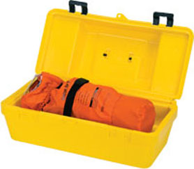 MSA Single unit carrying case, yellow polyethylene, with handle, for all escape respirators