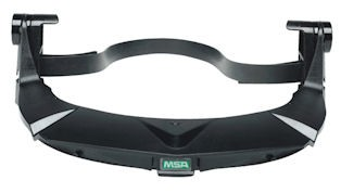 MSA Plastic V-Gard Universal Visor Frame With 3 Point Suspension And Debris Control For Use With Universal Hard Hats