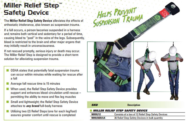 miller relief step safety device    kits   accessories