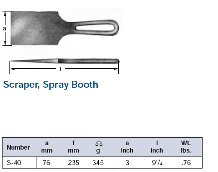 Ampco Non-Sparking, Non-Magnetic & Corrosion Resistant Safety Scraper, Spray Booth