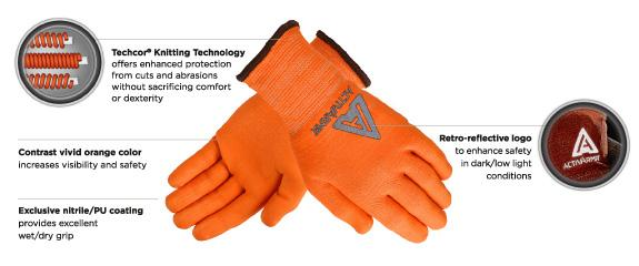 Ansell MEDIUM DUTY HI-VIZ™ GLOVE (97-013)