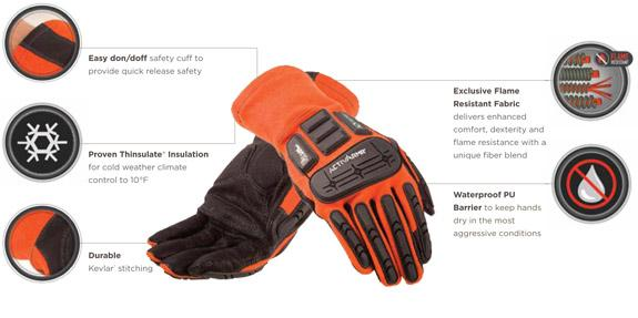 Ansell FLAME RESISTANT & IMPACT PROTECTION: COLD WEATHER Gloves