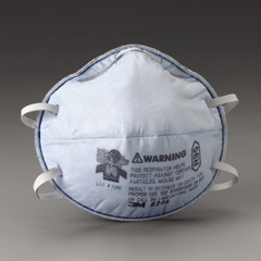 3M™ Particulate Respirator 8246, R95, with Nuisance Level Acid Gas Relief 20/Case