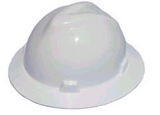 MSA V-Gard Hard Hats with Fas-Trac Suspension, Non-Slotted