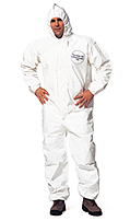 DuPont Tychem 4000 SL127T Chemical Resistant Coverall with Standard Fit Hood , Disposable, Elastic Cuff and Ankles
