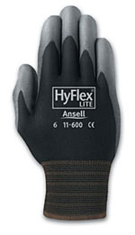 Ansell HyFlex® Lite Knit-Lined, Dipped, Color-Coded Cuff