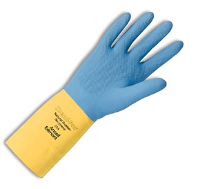 Ansell Chemi-Pro Cotton Flock-Lined, Neoprene Over Natural Rubber Latex