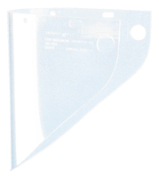 Fibre-Metal VISOR, 9 X 19, CLEAR