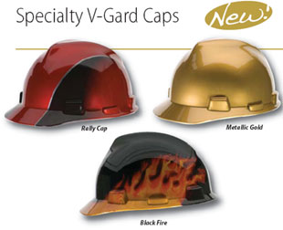 """MSA V-Gard Caps with """"Painted Look"""" Finish"""