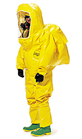 Dupont Fully encapsulated, Level B suit