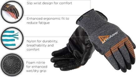 Ansell ActivArmr Multipurpose Light Duty Glove