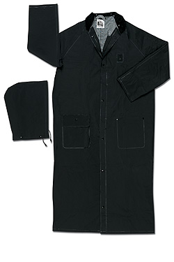 River City Limited Flammability, black 60 inch raincoat