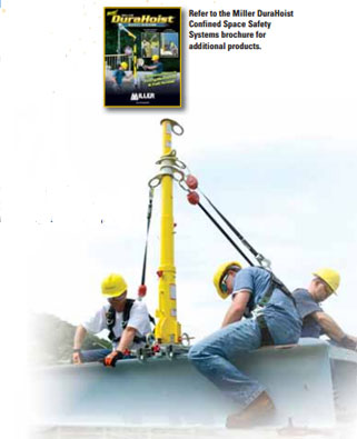 Miller DuraHoist Portable Fall Arrest  Post and Extension Post