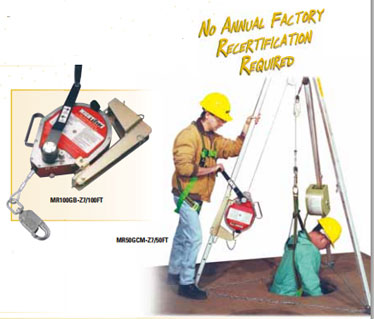 Miller MightEvac Self-Retracting Lifelines with Emergency Retrieval Hoist