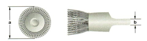 Ampco Brush, End, Crimped Wire